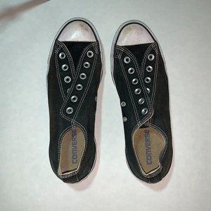 Black Converse no laces, W size 9.5, M size 7.5